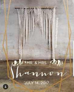 The House Phoenix boho macrame wedding hanging