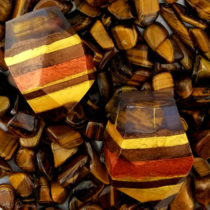 Tiger Eye Crystal Soap With A Real Crystal Stone In Each Vegan Bar Orange & Clove Essential Oil Scent - 4oz