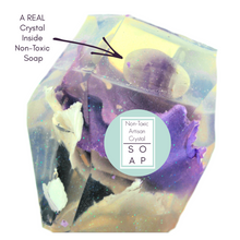Amethyst Crystal Soap With A Real Crystal Stone In Each Vegan Bar Lavender Essential Oil Scent - 4oz