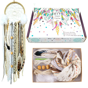 Cream DIY Dream Catcher Craft Kit Make Your Own Arts and Crafts Project For Adults or Children
