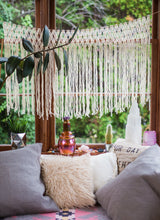 Romantic Macrame Hanging Wedding Garland for the Rustic Wedding Boho Bride - The House Phoenix
