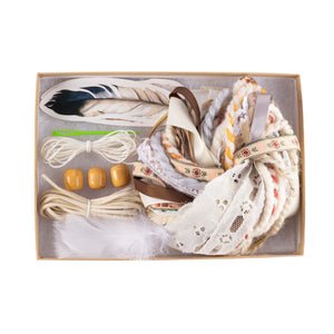 Cream DIY Dream Catcher Craft Kit