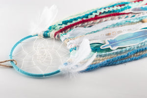 Adorable Aqua Blue DIY Dream Catcher Craft Kit - The House Phoenix