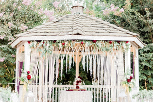 The House Phoenix bohemian macrame wedding hanging