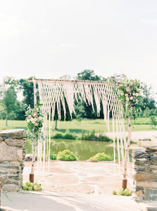 The House Phoenix handmade macrame wedding hanging