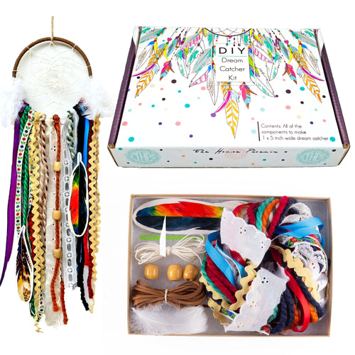 Creative Colorful DIY Dream Catcher Craft Kit for Girls or Boys