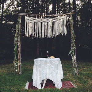 The House Phoenix Hand Made Yarn Macrame Altar Hanging Wedding Backdrop