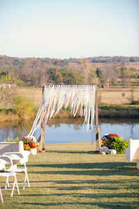 Always and Forever Large Handmade Yarn Macrame Wedding Backdrop - The House Phoenix