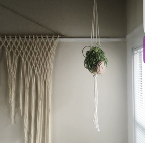 Large Luxury Yarn Macrame Wedding Backdrop for Indoor or Outdoor Ceremonies.  Customizable by Width