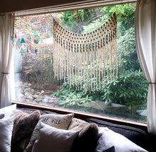 Bohemian Yarn Macrame Wall Hanging or Window Curtain - The House Phoenix