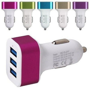 Car Charger Three Port 5.1 A High-capacity Car Adapter