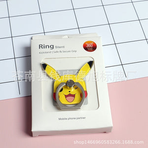 Mobile Phone Ring Buckle Bracket Kaqiu Pocket Monster Cartoon Pokemon Mobile Phone Holder
