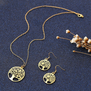Tree of Life Classic Elegant Good Luck Belief Jewelry Set
