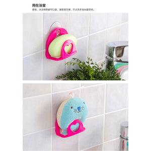 Multi-use Convenient Sponge Holder Suction Cup Sink Holder Kitchen Tools Gadget Decor Wall Cleaning Sponge Hanging Water Trough