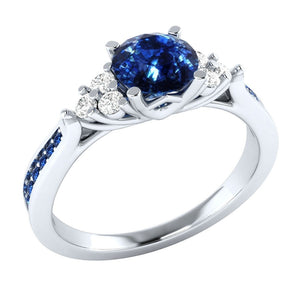 Exquisite  Silver Birthstone Ring