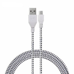 1m/2m/3m  Nylon Braided Micro USB Cabel Charger Data Sync USB Cable Cord For iphone 5/6/7/6s/6 plus