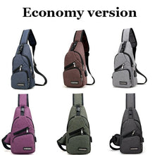 7 Colors Men Shoulder Bags Backpack Chest Bag Hiking Bicycle Pouch School Bag Multifunction Bag with USB Port