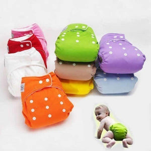 Adjustable Reusable Baby Infant Nappy Cloth Diapers Soft Covers Washable