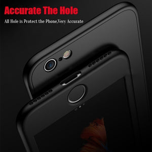 5 Color Matte 360° Full Mobile Phone Case for IPhone 7 8 6s 6 Plus X Case Soft TPU Silicone Protective Cover Camera Protection S