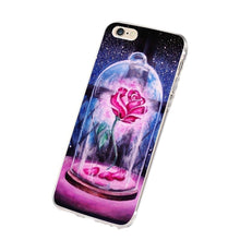 Beast and Beauty Rose Design Pattern Smartphone Accessory TPU Plastic Case Cover for phone 5 5s 4 4s 6 6 plus for Samsung Galaxy
