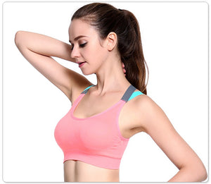Cross Strap Quick Dry Padded Shockproof Yoga Sports Bra