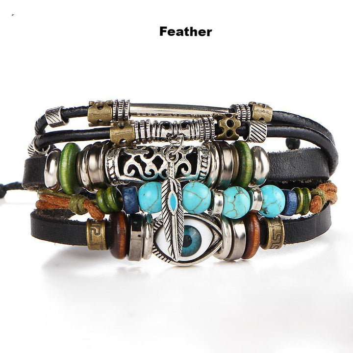 Unique Boho Genuine Leather Bracelets