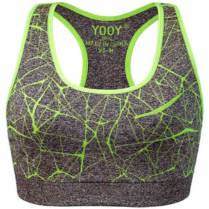 Shockproof, Stretch, Push Up Padded, Breathable, Seamless Yoga Sports Bra