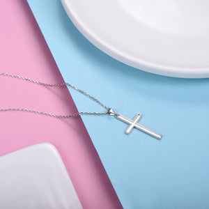 925 Sterling Silver Cross Pendant & Chain Necklace