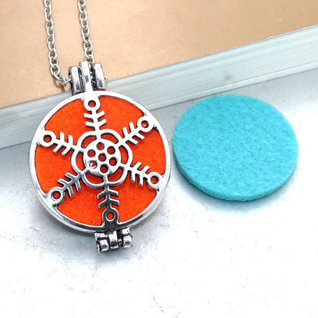 Vintage Essential Oil Aromatherapy Diffuser Necklaces-Snowflake #2