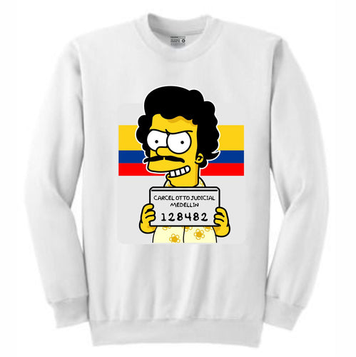 Esco Bart White Crewneck (Bootleg Collection)
