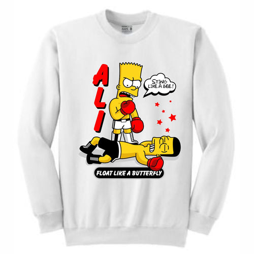 Ali Bart White Crewneck (Bootleg Collection)
