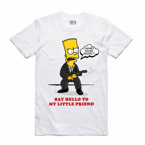 Scarface Bart White T-Shirt (Bootleg Collection)