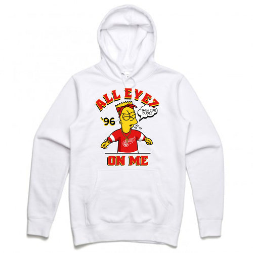 Thug Bart White Hoodie (Bootleg Collection)