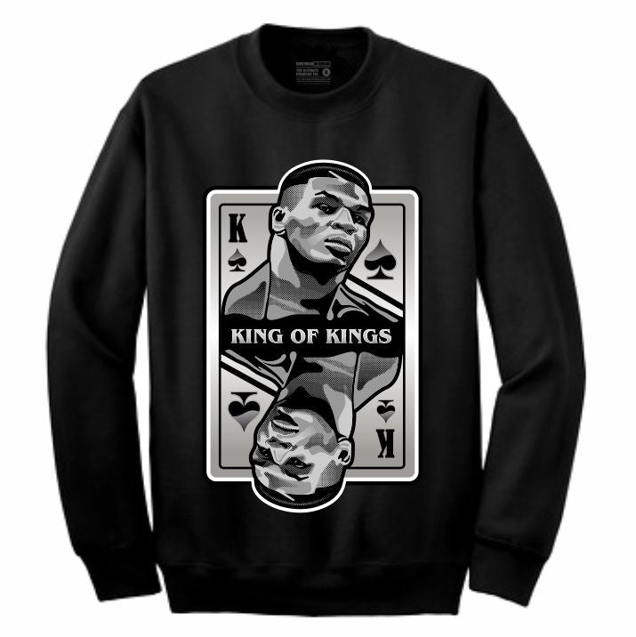 King of Kings Tyson Black Crewneck (Deck of Cards Collection)