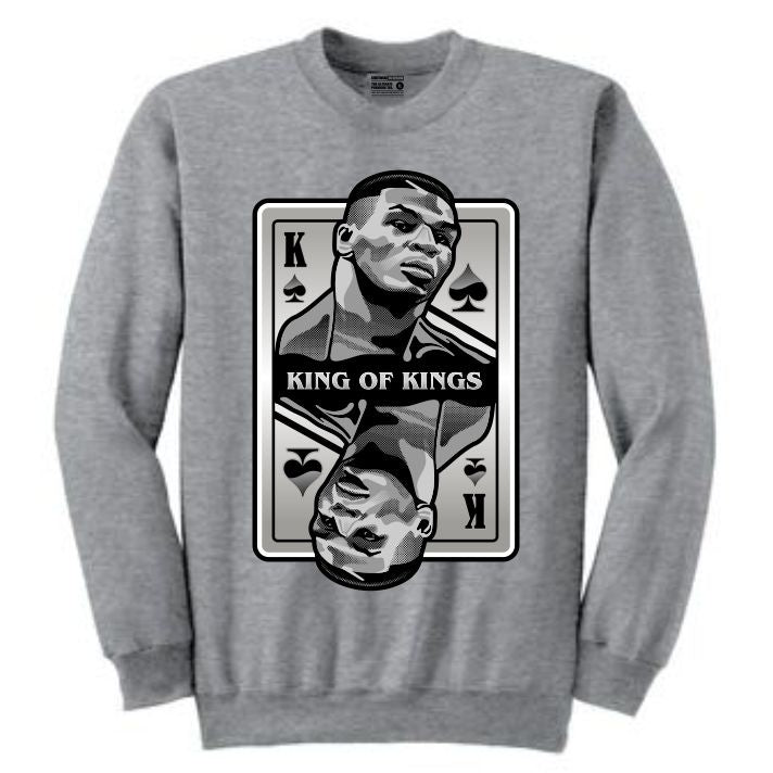 King of Kings Tyson Grey Crewneck (Deck of Cards Collection)
