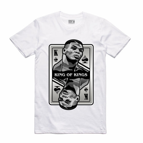 King of Kings Tyson White T-Shirt (Deck of Cards Collection)