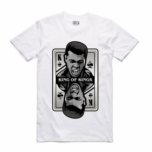 King of Kings Ali White T-Shirt (Deck of Cards Collection)