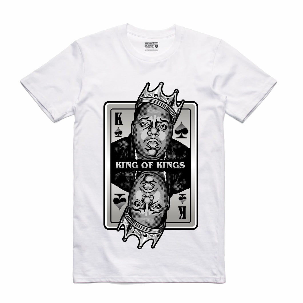 King of Kings Biggie White T-Shirt (Deck of Cards Collection)