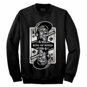 King of Kings MJ Black Crewneck (Deck of Cards Collection)