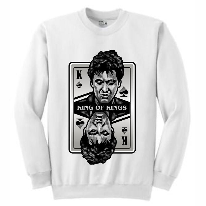 King of Kings Scarface White Crewneck (Deck of Cards Collection)