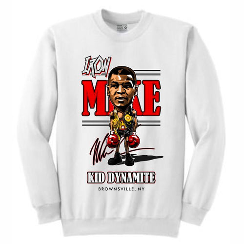 Iron Mike White Crewneck (Caricature Collection)