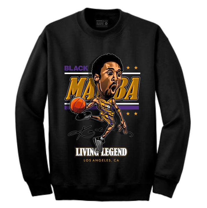 Mamba Black Crewneck (Caricature Collection)