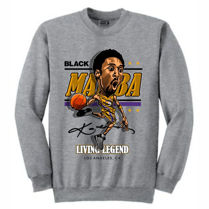 Mamba Grey Crewneck (Caricature Collection)