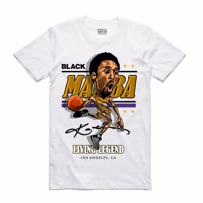 Mamba White T-Shirt (Caricature Collection)