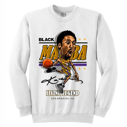 Mamba White Crewneck (Caricature Collection)
