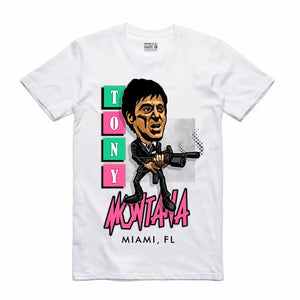 Scarface White T-Shirt (Caricature Collection)
