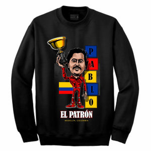 Pablo Black Crewneck (Caricature Collection)
