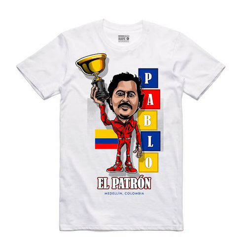 Pablo White T-Shirt (Caricature Collection)