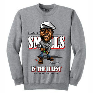 Biggie Grey Crewneck (Caricature Collection)