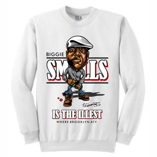 Biggie White Crewneck (Caricature Collection)